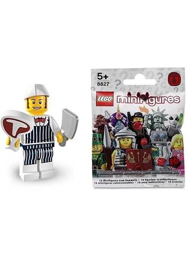 Lego Lego Minifigür - Seri 6 - 8827 - Butcher Renkli